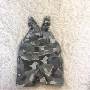 Baby Oshkosh Bgosh camo overalls 12m
